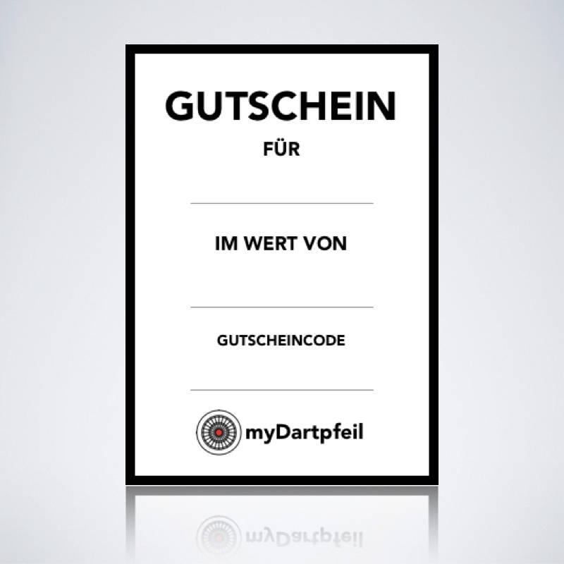Darts Geschenk Gutschein von myDartpfeil