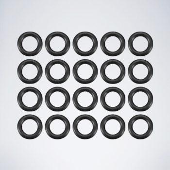 20 schwarze Dart Gummiringe