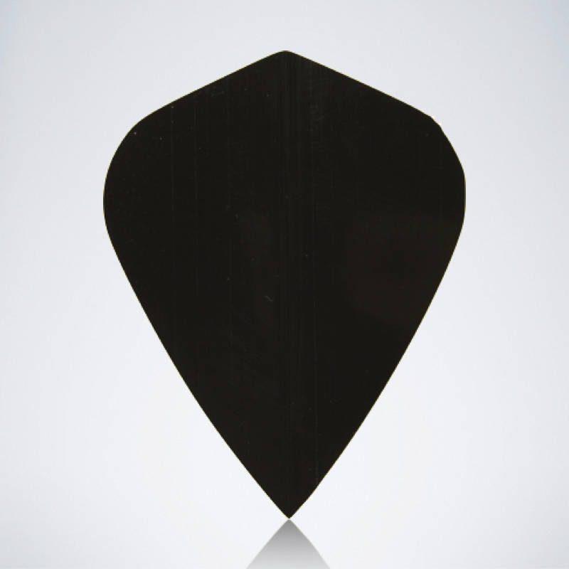 Schwarzer Kite Type 1 Flight aus Kunststoff für Dartpfeile