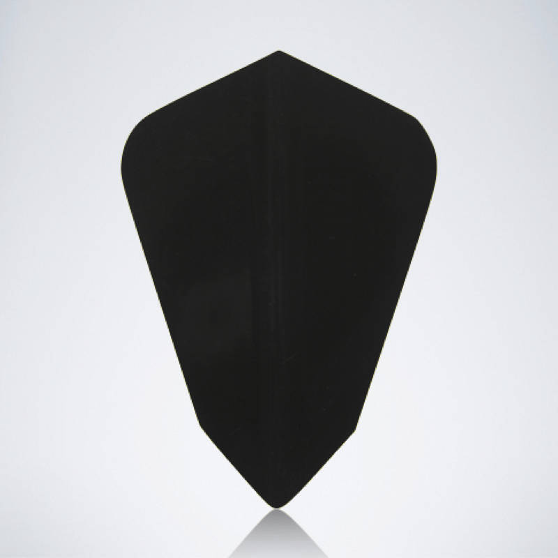 Schwarzer Kite Type 2 Flight für Dartpfeile