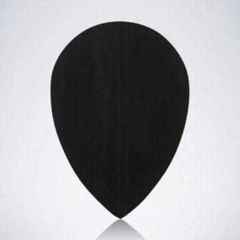 Schwarzer Pear Flight aus Kunststoff für Dartpfeile