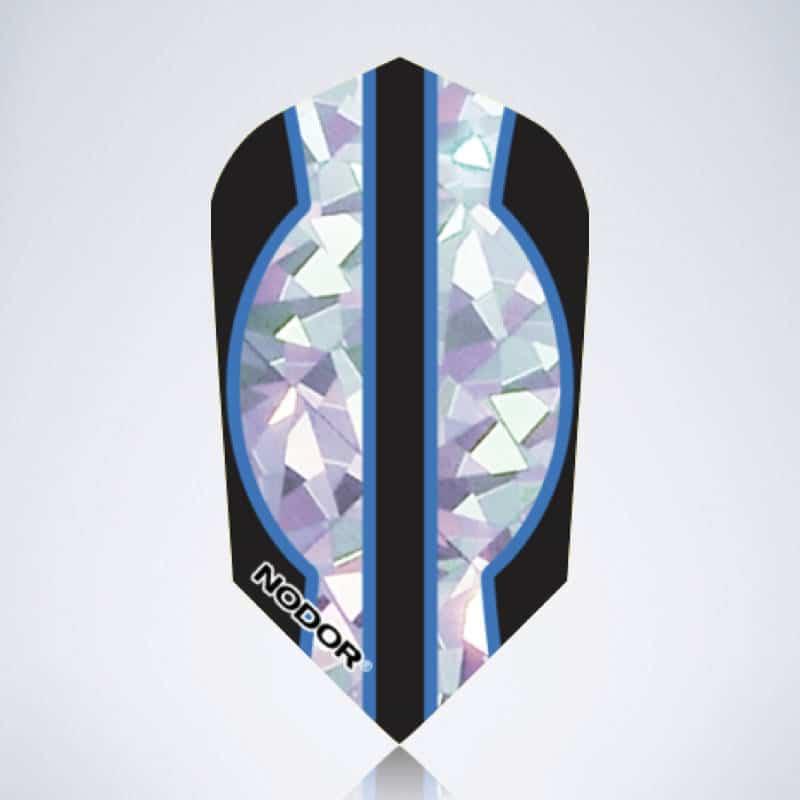 Blue Glitter Slim Flight aus Kunststoff für Dartpfeile