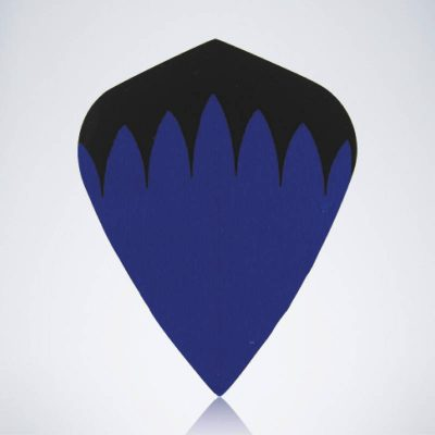 Blauer Kite Type 1 Flight aus Kunststoff für Dartpfeile