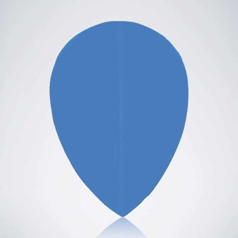Blauer Pear Flight aus Kunststoff für Dartpfeile