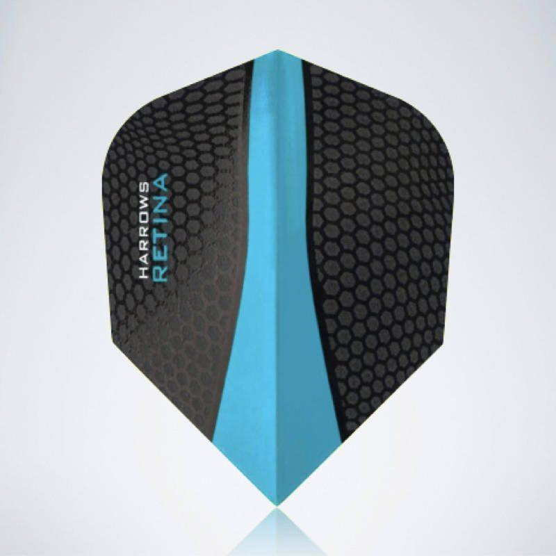 Blauer Retina Standard Flight aus Kunststoff für Dartpfeile