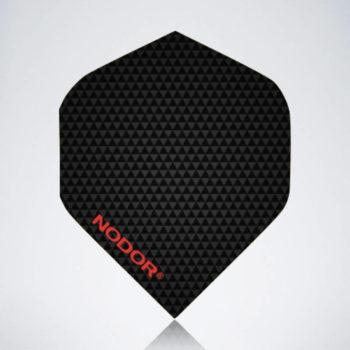 Carbon Black Standard Flight aus Kunststoff für Dartpfeile