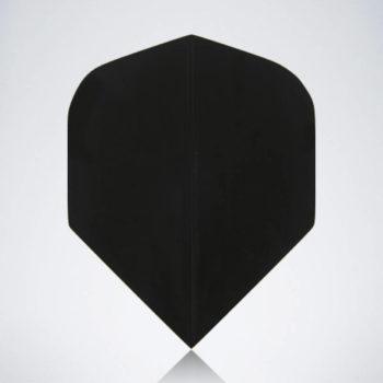 Classic Black Standard Flight aus Kunststoff für Dartpfeile