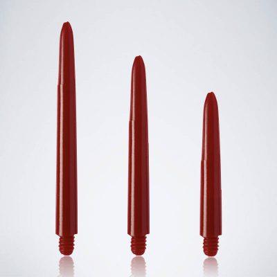 Classic Red M-S-XS Nylon Schäfte für Dartpfeile