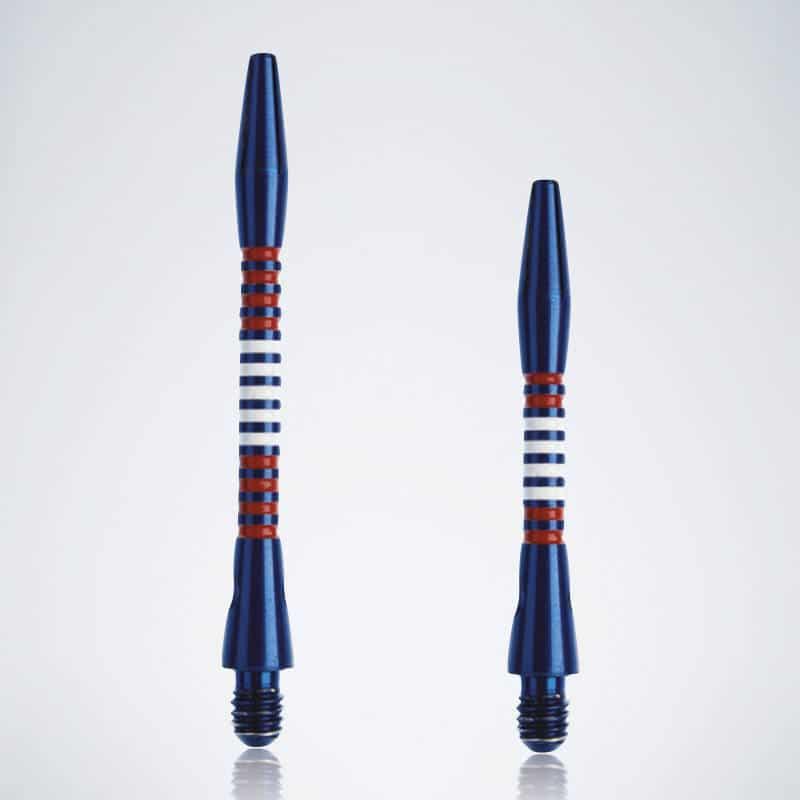 Designer Jailbird Blue-White-Red M-S Aluminium Schäfte für Dartpfeile