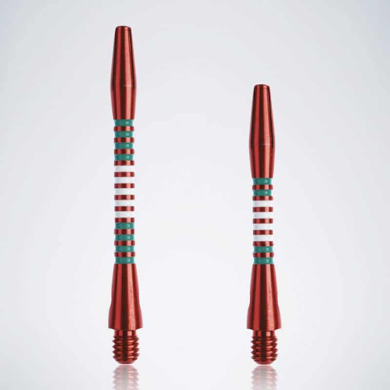 Designer Jailbird Red-White-Green M-S Aluminium Schäfte für Dartpfeile
