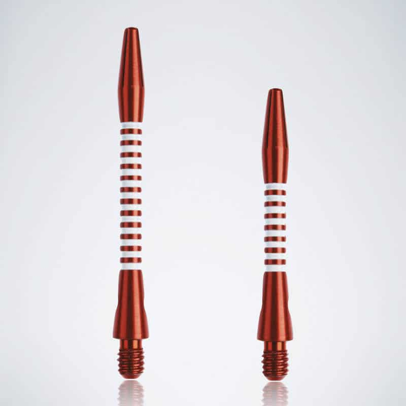 Designer Jailbird Red-White M-S Aluminium Schäfte für Dartpfeile