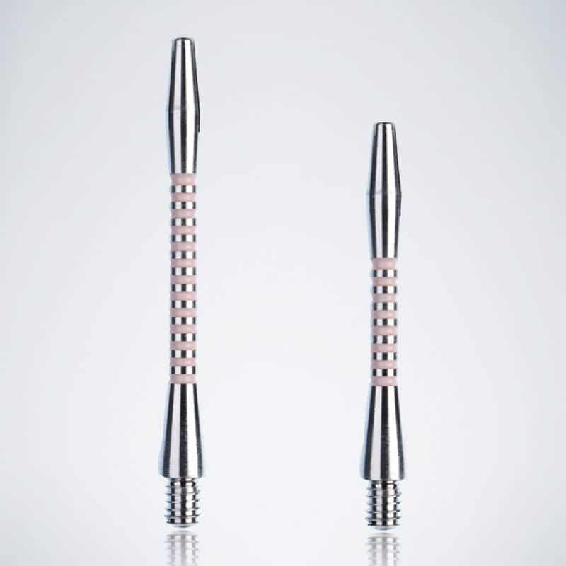 Designer Jailbird Silver-Pink M-S Aluminium Schäfte für Dartpfeile
