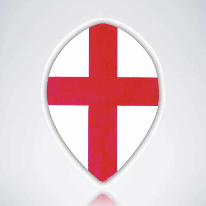 England Pear Flight aus Kunststoff für Dartpfeile
