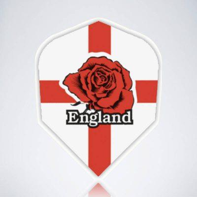 England Rose Standard Flight aus Kunststoff für Dartpfeile