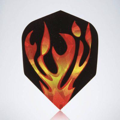 Flame Vinyls Standard Flight aus Kunststoff für Dartpfeile
