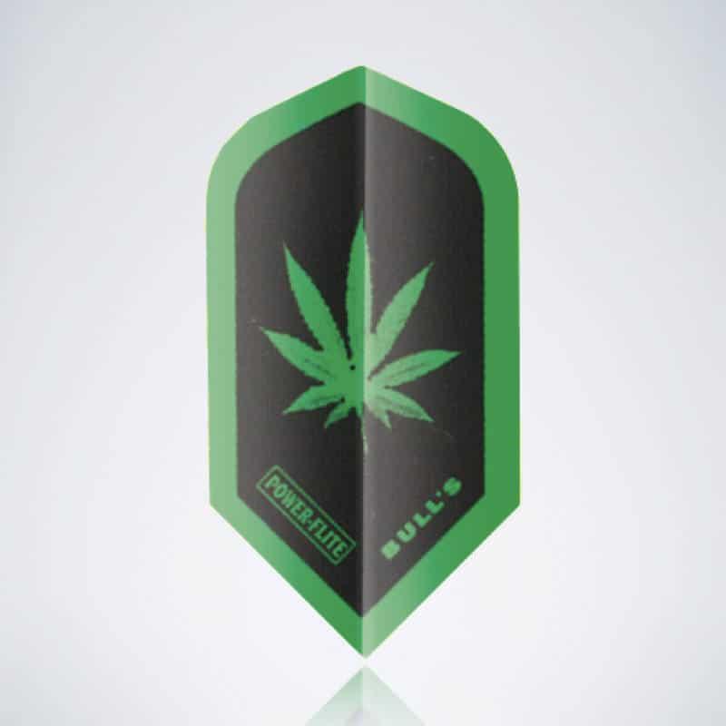 Green Cannabis Slim Flight aus Kunststoff für Dartpfeile