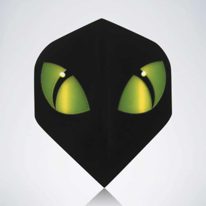 Green Eyes Standard Flight aus Kunststoff für Dartpfeile