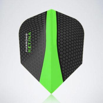 Grüner Retina Standard Flight aus Kunststoff für Dartpfeile