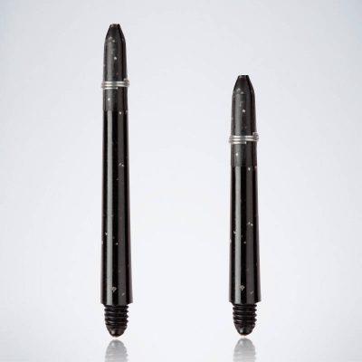 Grip Glitter Black M-S Nylon Schäfte für Dartpfeile