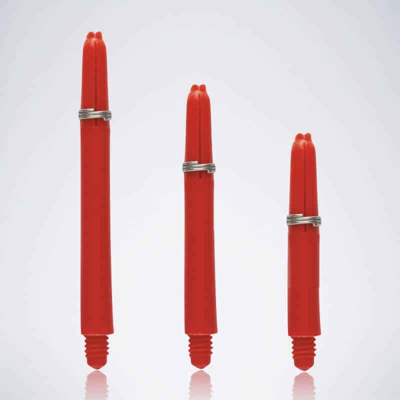 Grip Red M-S-XS Nylon Schäfte für Dartpfeile