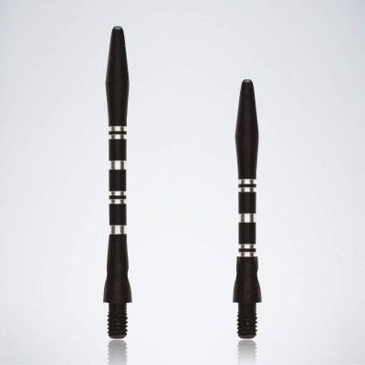 Grooved Black M-S Aluminium Schäfte für Dartpfeile