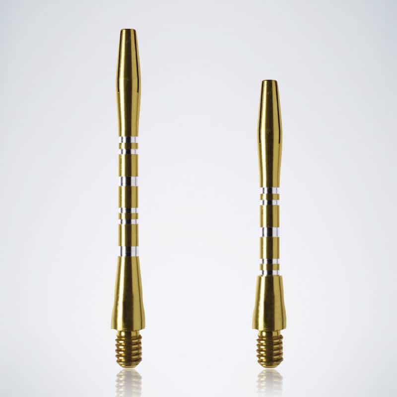 Grooved Gold M-S Aluminium Schäfte für Dartpfeile
