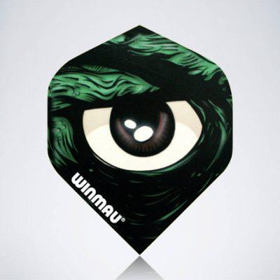 Hulk Eye Standard Flight aus Kunststoff für Dartpfeile
