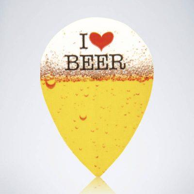 I love Beer Pear Flight aus Kunststoff für Dartpfeile