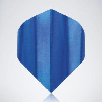 Iridescent Blue Standard Flight aus Kunststoff für Dartpfeile