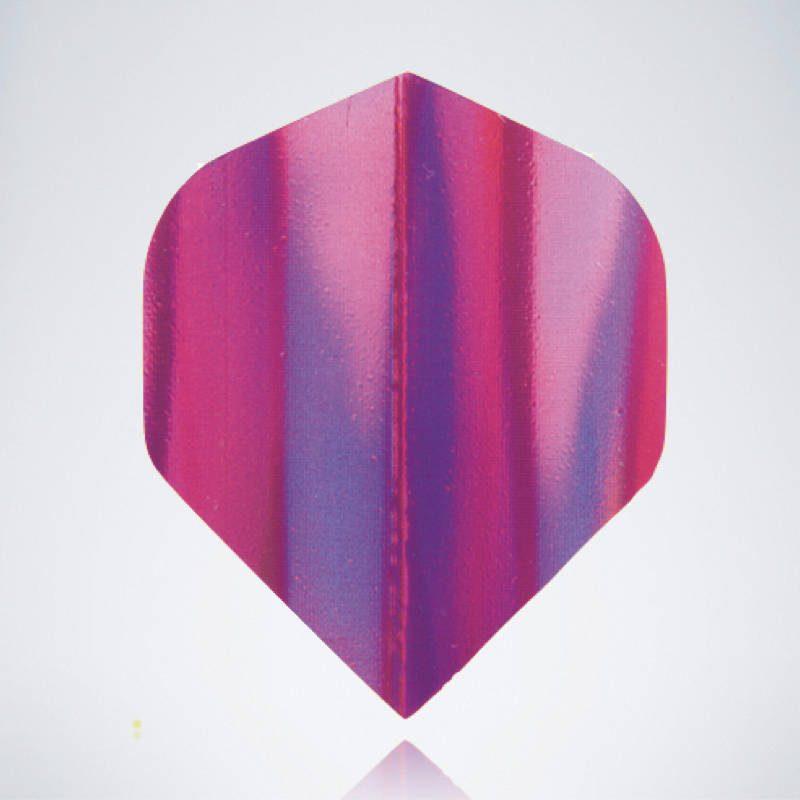 Iridescent Pink Standard Flight aus Kunststoff für Dartpfeile