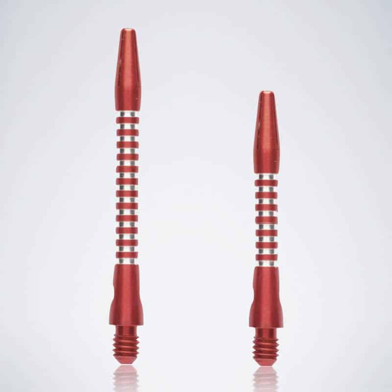 Jailbird Red M-S Aluminium Schäfte für Dartpfeile