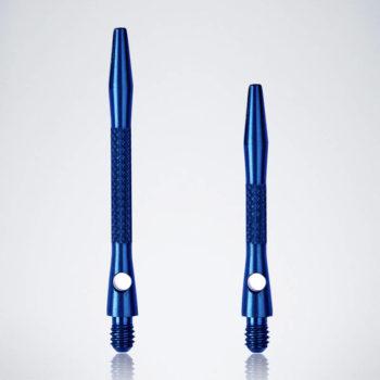 Knurled Blue M-S Aluminium Schäfte für Dartpfeile