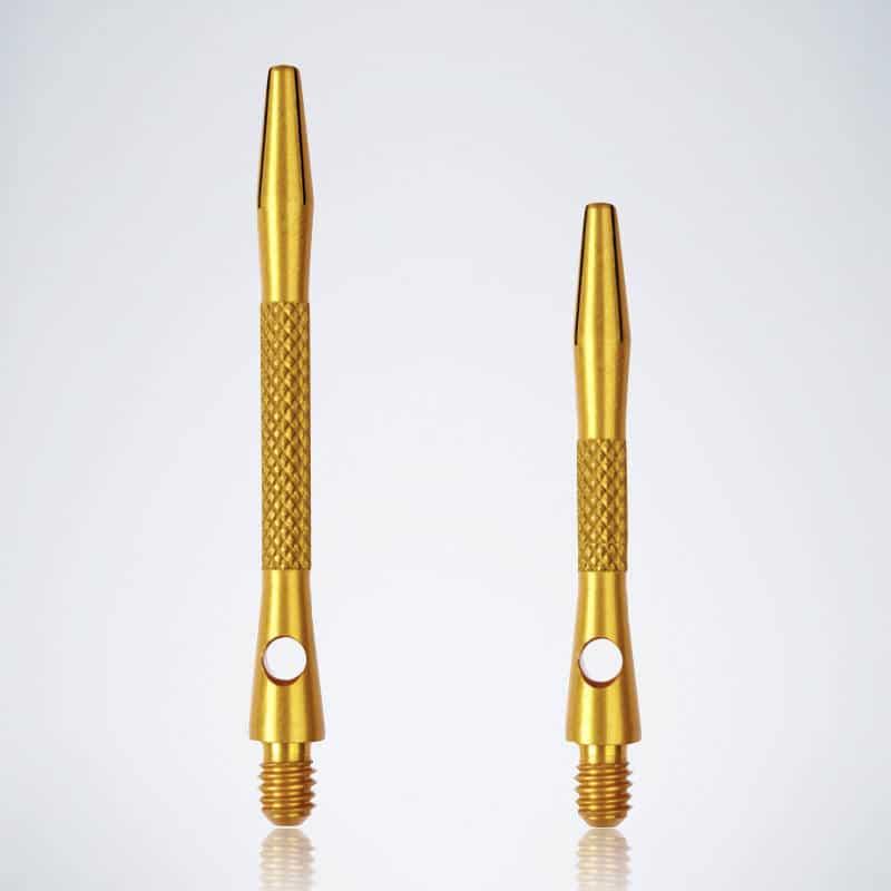 Knurled Gold M-S Aluminium Schäfte für Dartpfeile
