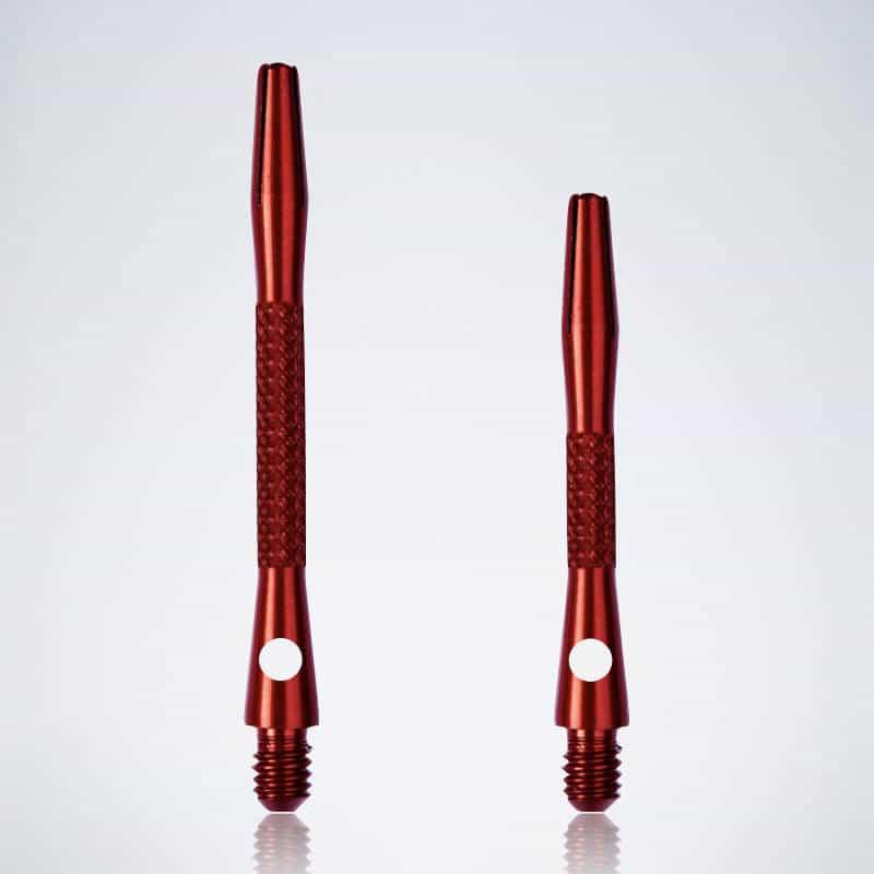 Knurled Red M-S Aluminium Schäfte für Dartpfeile