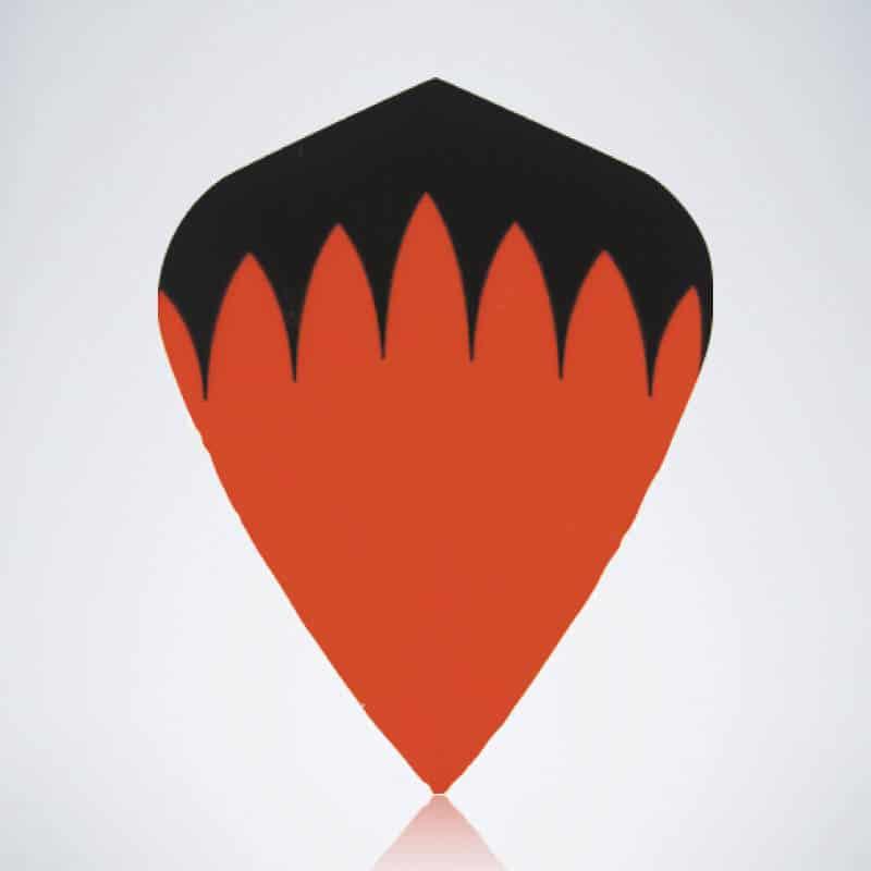Orangener Kite Type 1 Flight aus Kunststoff für Dartpfeile