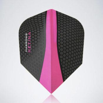 Pinker Retina Standard Flight aus Kunststoff für Dartpfeile
