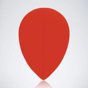Roter Pear Flight aus Kunststoff für Dartpfeile
