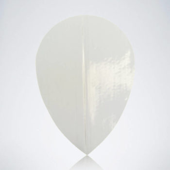 Silberner Pear Flight aus Kunststoff für Dartpfeile