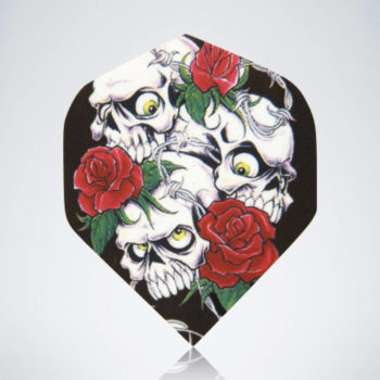 Skulls & Roses Standard Flight aus Kunststoff für Dartpfeile