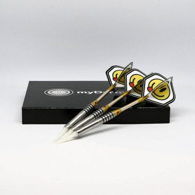 Softdarts in gold auf Dart Case