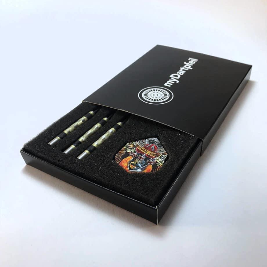 Darts Box zum aufschieben in schwarz