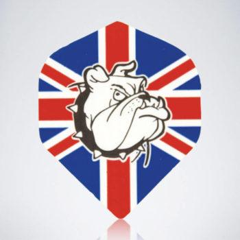 Union Jack Bull Dog Standard Flight aus Kunststoff für Dartpfeile