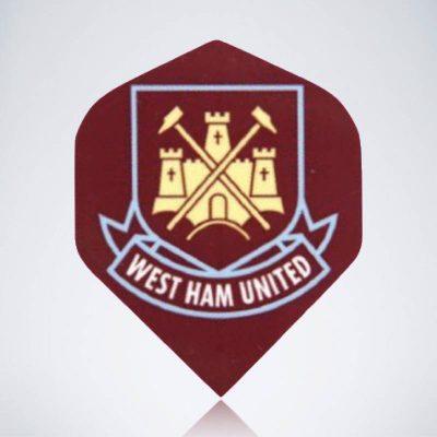 West Ham United Standard Flight aus Kunststoff für Dartpfeile