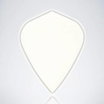 Weißer Kite Type 1 Flight aus Kunststoff für Dartpfeile