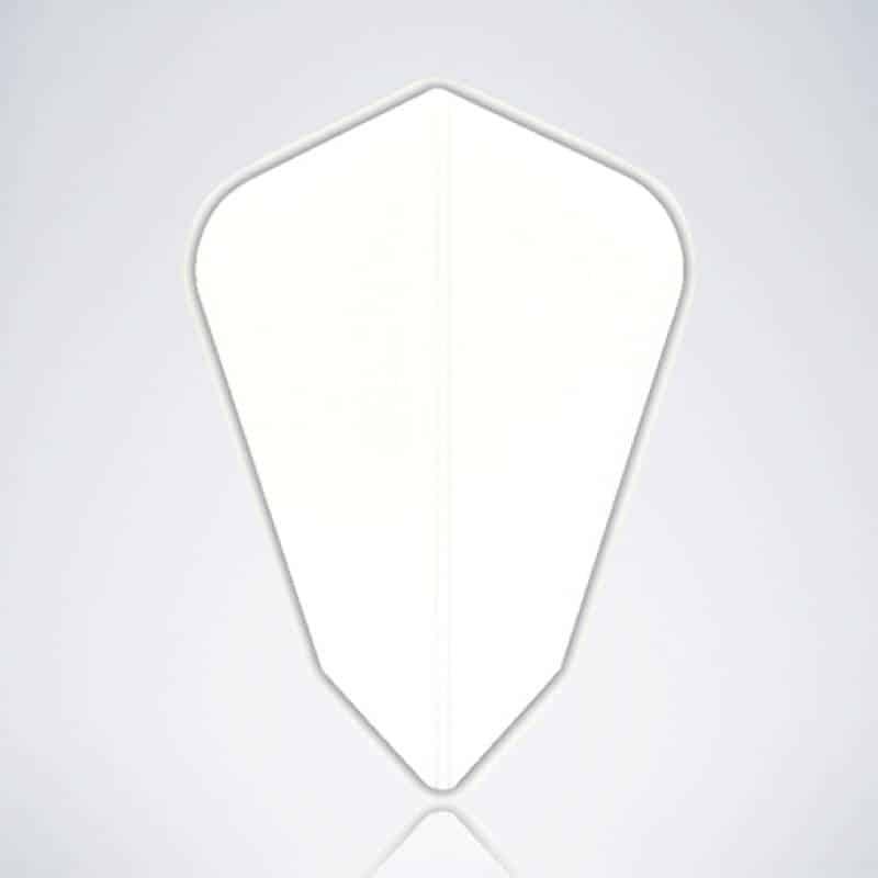 Weißer Kite Type 2 Flight für Dartpfeile