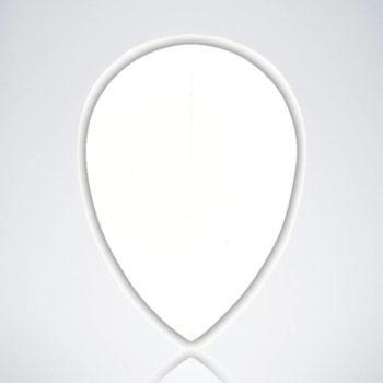 Weißer Pear Flight aus Kunststoff für Dartpfeile