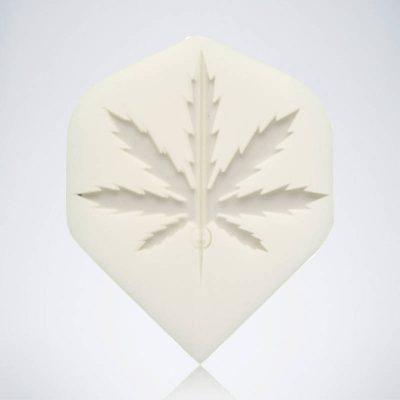 White Stoner Standard Flight aus Kunststoff für Dartpfeile