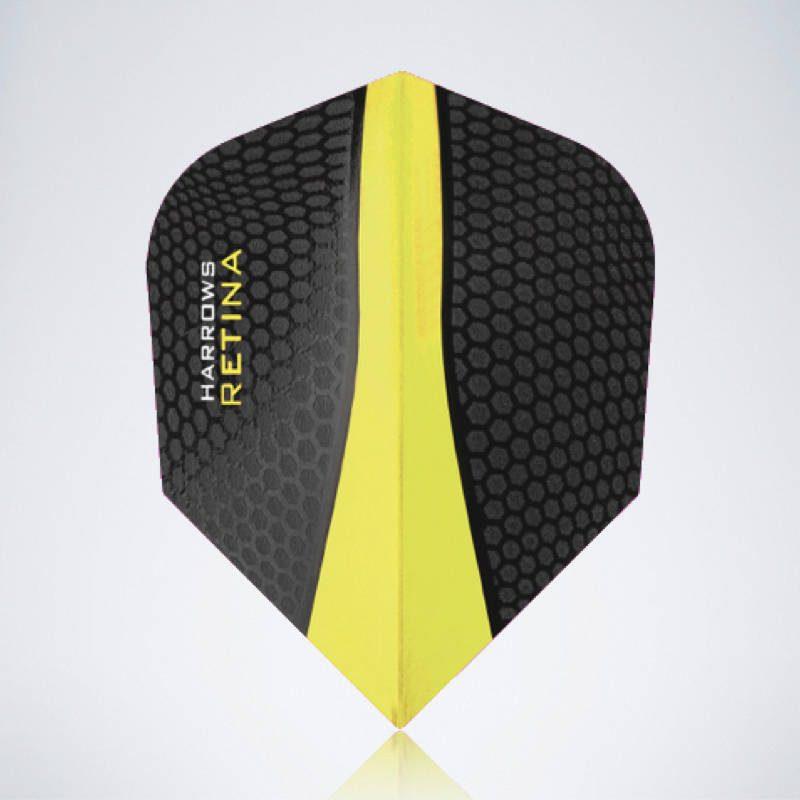 Gelber Retina Standard Flight aus Kunststoff für Dartpfeile