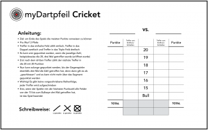 Darts Spiele Cricket
