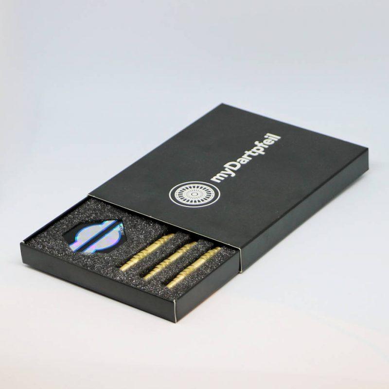 Softdarts in schwarzer Box